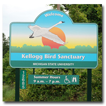 W.K. Kellogg Bird Sanctuary Entrance Sign