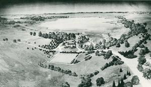 Original Kellogg Bird Sanctuary Architectural Sketch