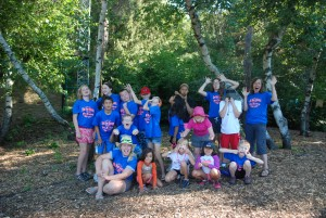 2015 campers group photo at the Kellogg Bird Sanctuary