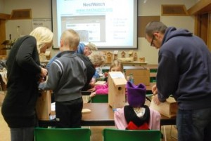 Families build nestboxes at the Sanctuary's Build-a-Box program