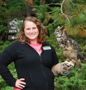 Lisa Duke and Great Horned Owl