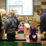 Guests building nestboxes to take home