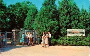 A vintage postcard of the Sanctuary's entrance in the 1960's