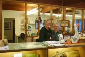 Resource Center volunteers behind the store counter