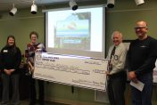 Large Check presentation to KBS from Gull Lake Area Rotary
