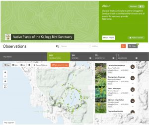 Screen shot of iNaturalist page