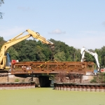 2011 - New pedestrian bridge is installed