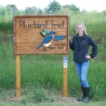 2013 - Intern Jackie Wolfinger re-established the Bluebird Trail.